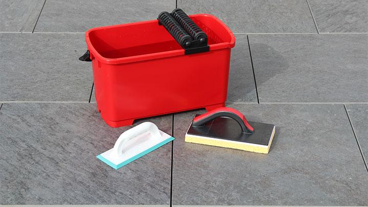 Waschbox, vdw-Fugbrett und vdw-Trägerbrett vorbereiten