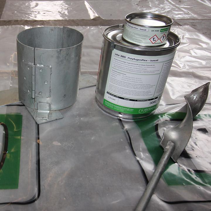 Bild 5: Gebindehalter und Rührer vorbereiten