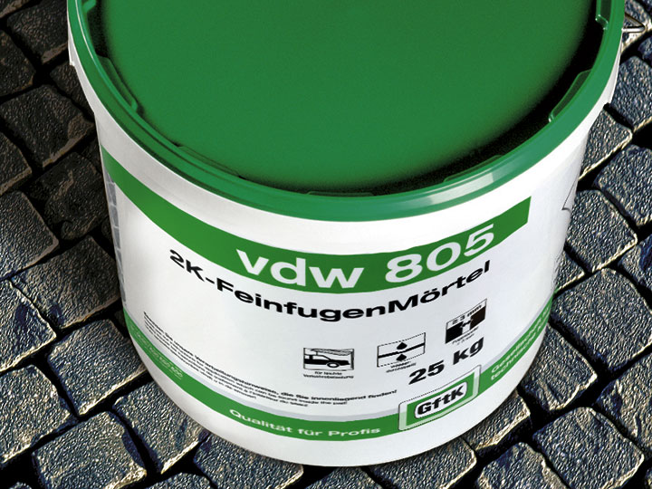 Bild 2: Produkt vdw 805 Feinfugenmörtel